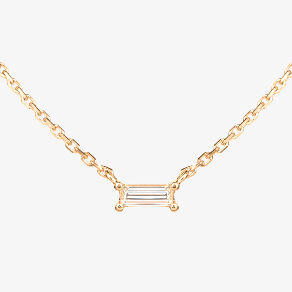 Luminous N.5 Baguette Diamond Necklace