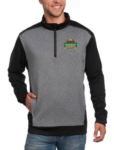 Polynesian Bowl - Men's Replay Half Zip in Black