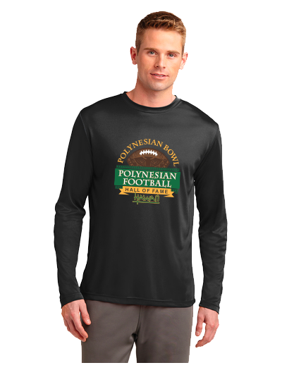 Polynesian Bowl - Long Sleeve Dri Fit Tee in Black