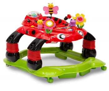 Delta Children Mason-The Turtle Lil' Play Station 3-in-1 Activity Walker; Sadie the Lady Bug