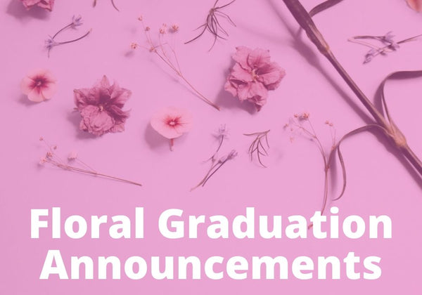 Floral Graduation Announcements