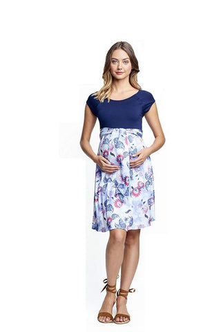 Nursing front tie dress
