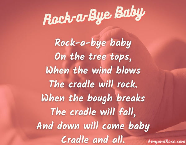 Rock A Bye Baby Lullaby Lyrics