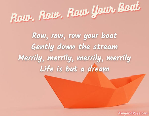Row Row Row Your Boat Lullaby Lyrics