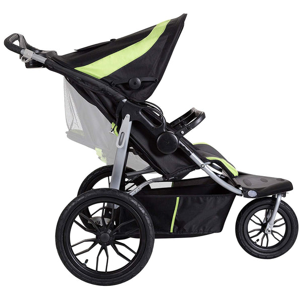 Side view Baby Trend navigator lite double jogging stroller Lincoln