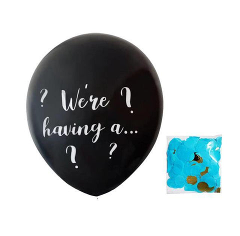 36 inch We're having a... Gender Reveal latex balloon-gender reveal-Amy&Rose-With blue confetti-36inch-Amy&Rose