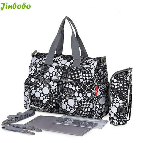 5 PCS/SET Baby Waterproof Baby Nappy Bag-Amy&Rose-BlackDot-Amy&Rose