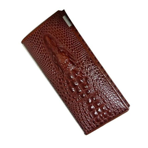 Alligator Clutch-clutch-Amy&Rose-Brown-Amy&Rose