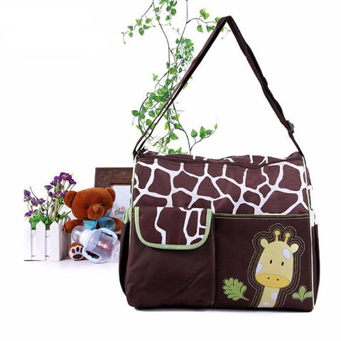 Animal Baby Diaper Bag-Amy&Rose-Giraffe Green-Amy&Rose