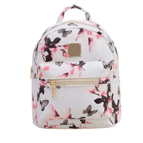 Anne Designer Backpack-backpack-Amy&Rose-White-Amy&Rose