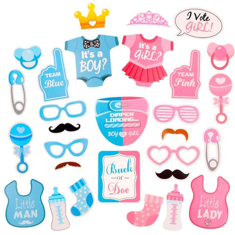 Blue or Pink | Gender Reveal Props-gender reveal-Amy&Rose-Amy&Rose