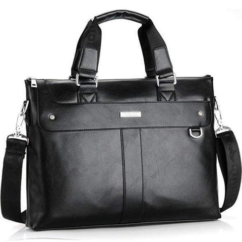 Edward Business Briefcase & Leather Messenger Bag-messenger bag-Amy&Rose-Black-China-Amy&Rose