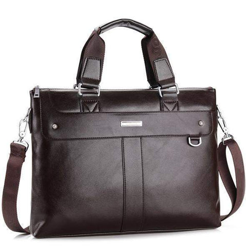Edward Business Briefcase & Leather Messenger Bag-messenger bag-Amy&Rose-Brown-China-Amy&Rose