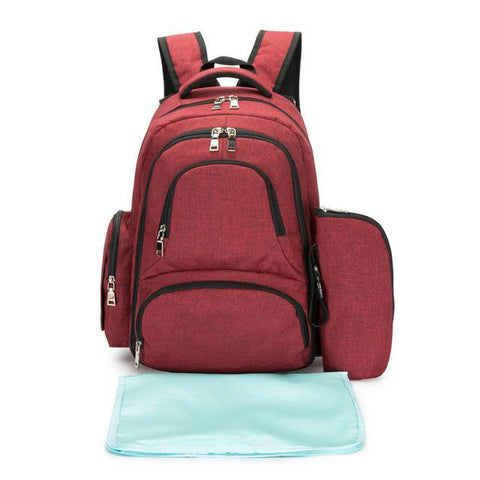 EMA: Large Capacity Diaper Bag-Amy&Rose-Wine Red-Amy&Rose