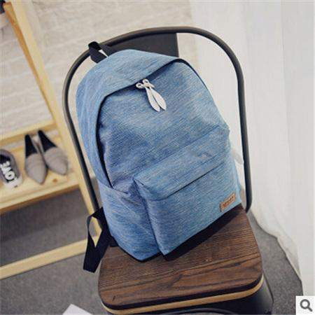 Eugene Canvas Backpack-backpack-Amy&Rose-Blue-Amy&Rose