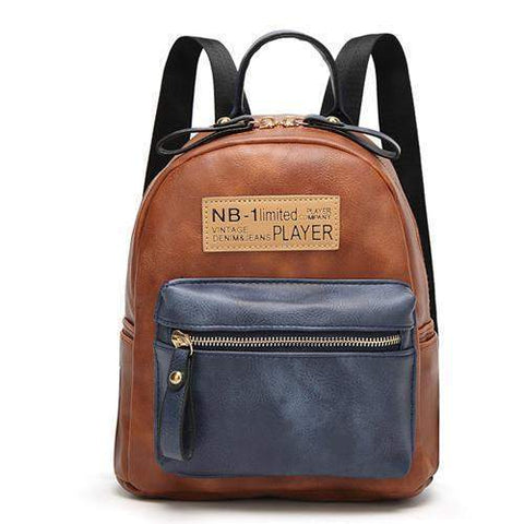 Jean Travel Backpack-backpack-Amy&Rose-brown-Amy&Rose
