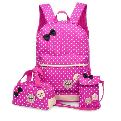 Julie 3 Pcs Bag Set-backpack-Amy&Rose-Black-Amy&Rose