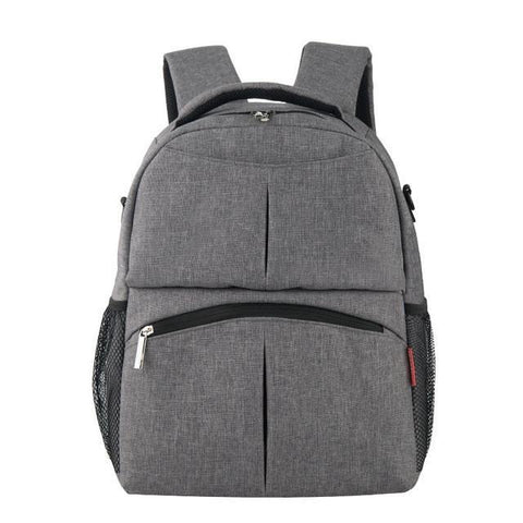 Large Capacity Maternity Diaper Backpack-Amy&Rose-Gray-Amy&Rose