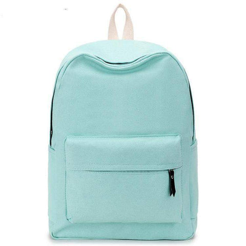 Lemon Canvas Solid Backpack-backpack-Amy&Rose-Mint-Amy&Rose