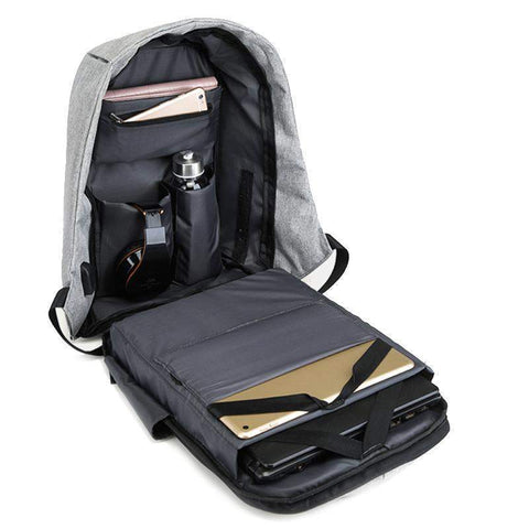 Mason™ - Best Anti-Theft USB Charging Travel Backpack-backpack-Amy&Rose-Black-Amy&Rose