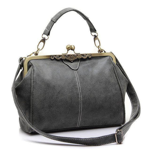 Olivia Messenger Bag-messenger bag-AmyandRose-Gray-Amy&Rose