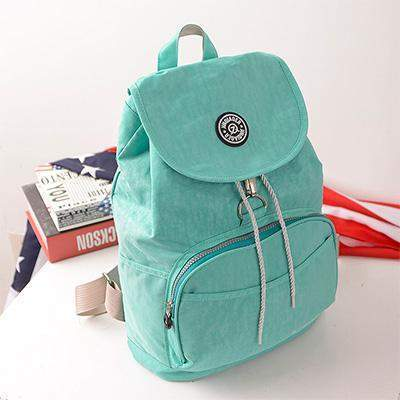 Preppy Style Womens' Waterproof Backpack-backpack-Amy&Rose-Green-Amy&Rose