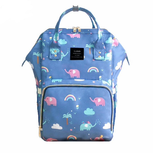 Elephant Blue nappy bag
