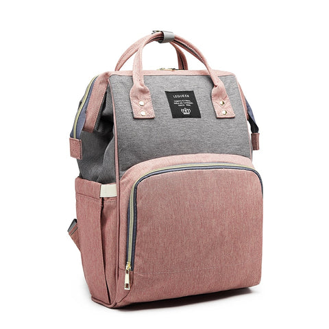 Pink and Gray Diaper Bag