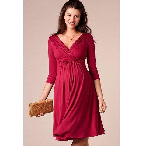 Maternity Evening Cocktail Plus Size Dress-maternity-AmyandRose-AmyandRose