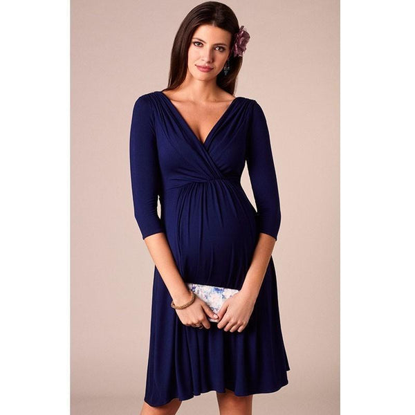 Navy Evening Maternity Gown
