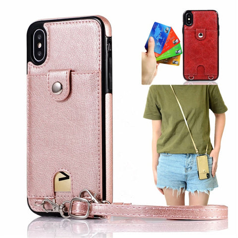 Iconic iPhone purse case with shoulder strap