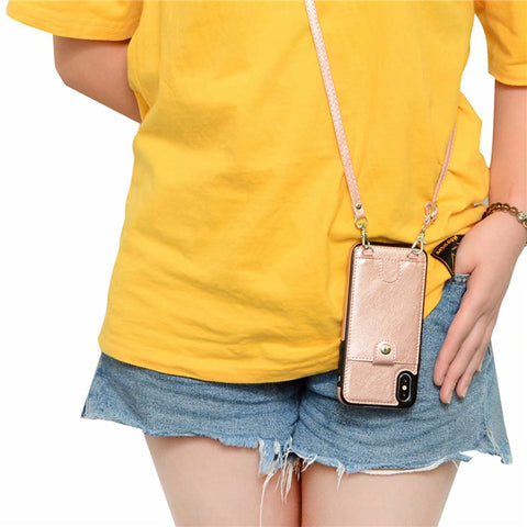 Iconic iPhone purse case with shoulder strap AmyandRose