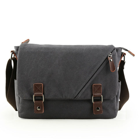 Black Tom Canvas Messenger Bag AmyandRose