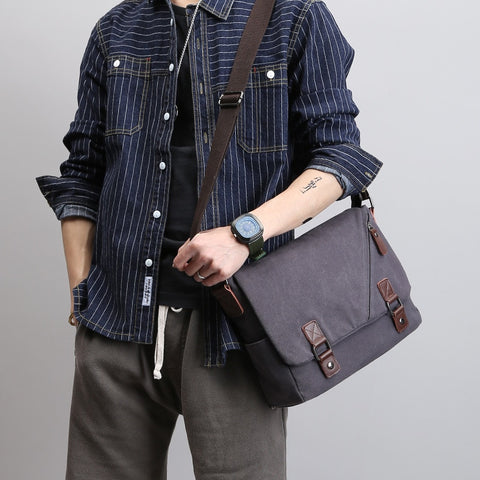 Tom Canvas Messenger Bag AmyandRose