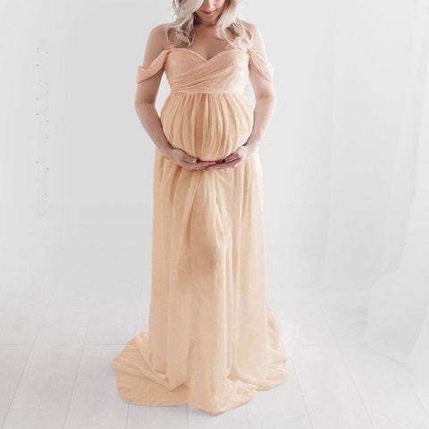Ivory Maternity Lace Dress for Pictures