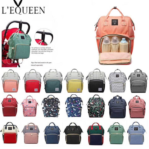Lequeen Diaper Bag Backpack-bag-Lequeen-AmyandRose