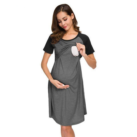 Breastfeeding Pregnancy Dress-maternity-AmyandRose-AmyandRose