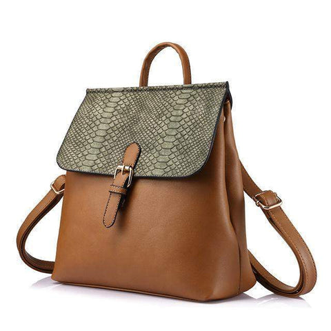 Theresa Multifuctional Backpack-backpack-Amy&Rose-Brown-Amy&Rose