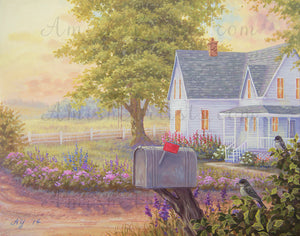 Along the Road, Amanda Yoder, Giclée Fine Art Print