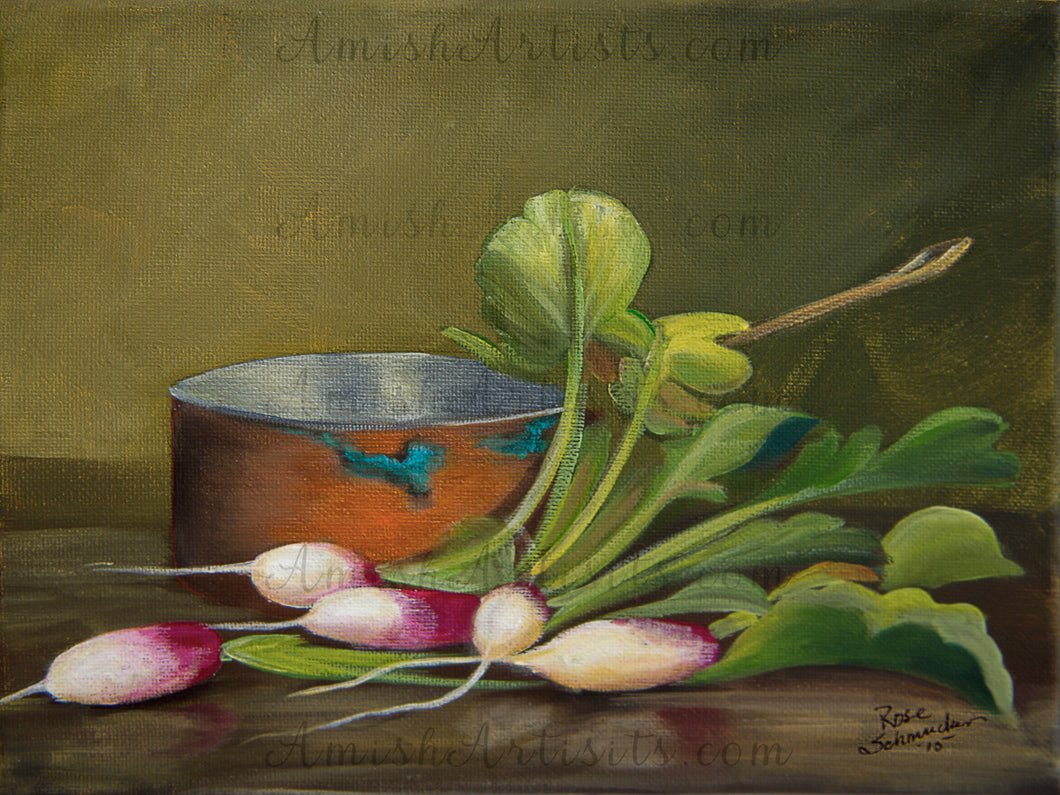 Radishes by Rosemary Schmucker, Giclée Fine Art Print