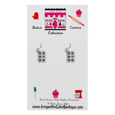 BAKER LOVERS Cupcake/Muffin Pan Earrings