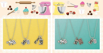 BAKER LOVERS NECKLACES-Mixer and Whisk