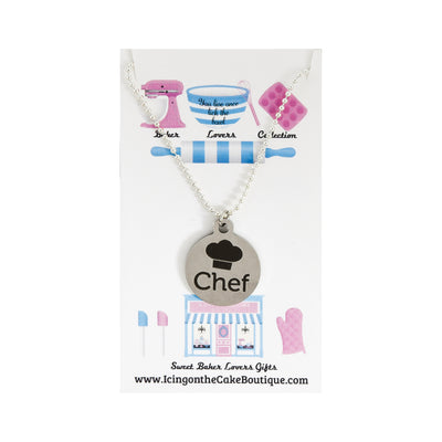 Chef Quote BAKER LOVERS NECKLACES