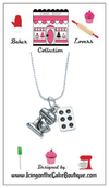 BAKER LOVERS NECKLACES-Mixer and Cupcake/Muffin Pan