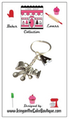 Monogram Baker Lovers Dream Key Chain-Mixer,Measuring Spoons,,Measuring Cup
