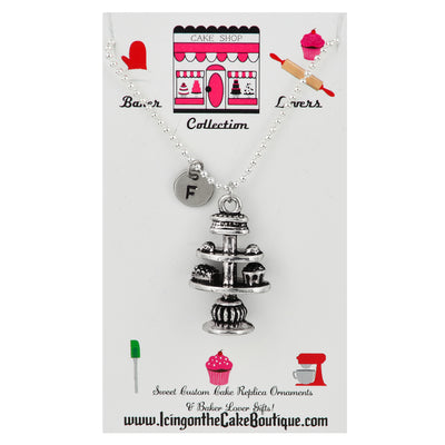Monogram Cupcake Stand LOVERS NECKLACES