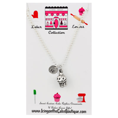 Monogram Cupcake BAKER LOVERS NECKLACES