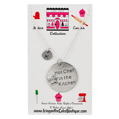 Monogram Hot Chef in the Kitchen BAKER LOVERS NECKLACES