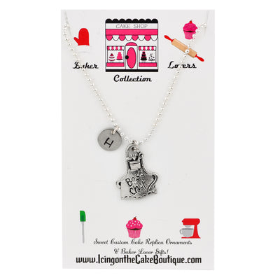 Monogram Best Chef Apron BAKER LOVERS NECKLACES
