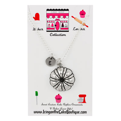 Monogram Bundt Cake Pan BAKER LOVERS NECKLACES